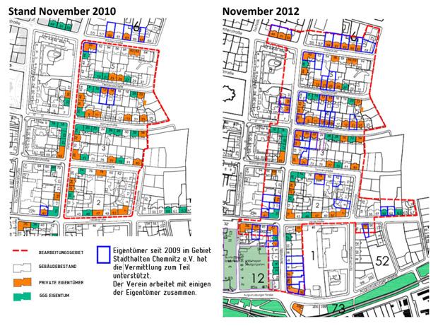 Eigentuemerwechsel auf dem Sonnenberg im Zeitraum 2010-2012, © Stadthalten-Chemnitz eV.