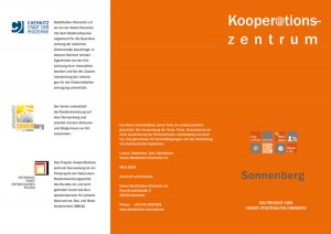 1. Informationsflyer zum Kooperationszentrum Sonnenberg, 2014